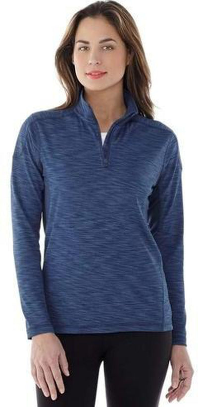 Elevate-Ladies Yerba Knit Quarter Zip-Thread Logic no-logo