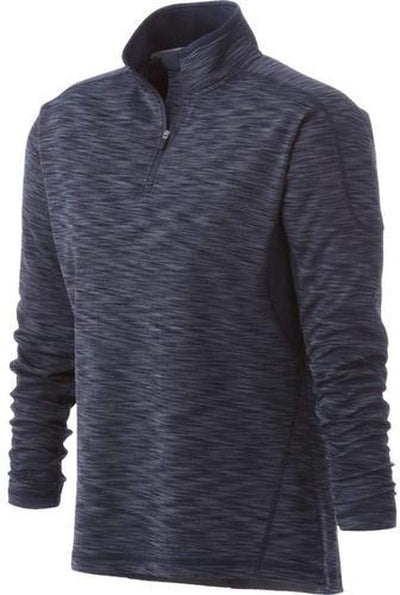 Elevate-Ladies Yerba Knit Quarter Zip-XS-Smoke Heather/Smoke-Thread Logic