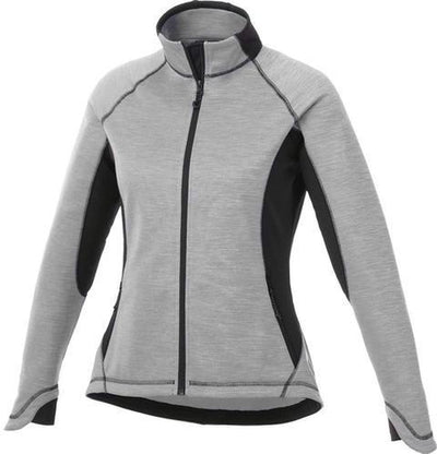 Elevate-Ladies LANGLEY Knit Jacket-XS-Silver Heather/Black-Thread Logic