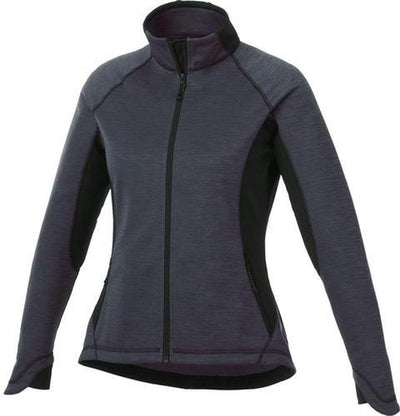 Elevate-Ladies LANGLEY Knit Jacket-XS-Smoke Heather/Black-Thread Logic