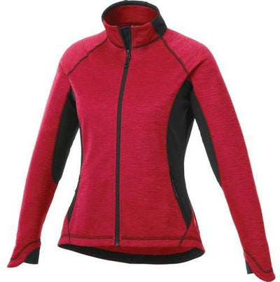 Elevate-Ladies LANGLEY Knit Jacket-XS-Vintage Red Heather/Black-Thread Logic