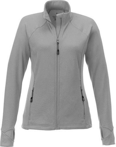 Elevate-KIRKWOOD Ladies Knit Jacket-S-Silver-Thread Logic