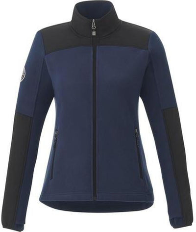 Roots73 Ladies Briggspoint Microfleece Jacket-S-Atlantic Navy/Black-Thread Logic
