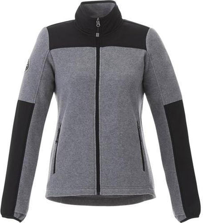 Roots73 Ladies Briggspoint Microfleece Jacket-S-Charcoal Mix/Black-Thread Logic