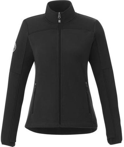 Roots73 Ladies Briggspoint Microfleece Jacket-S-Black/Black-Thread Logic