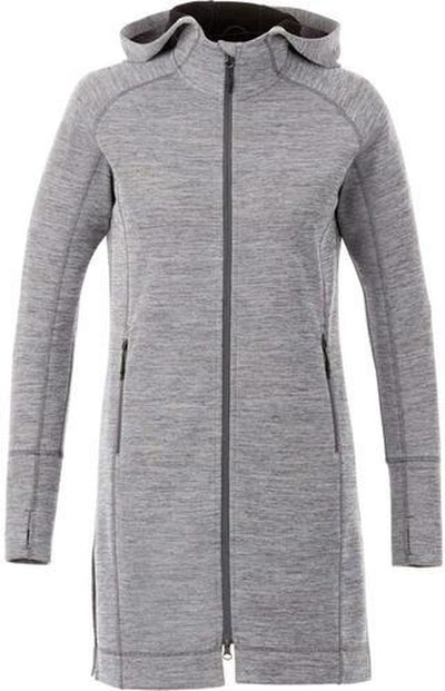 Elevate-Ladies Odell Knit Zip Hoody-XS-Heather Charcoal-Thread Logic