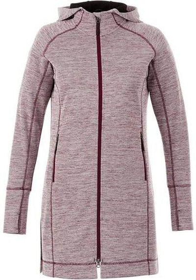 Elevate-Ladies Odell Knit Zip Hoody-XS-Maroon Heather-Thread Logic