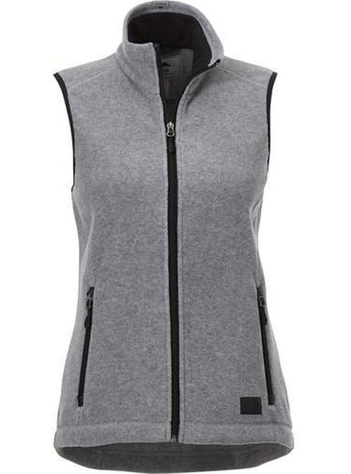 Roots73 Ladies Willowbeach Microfleece Vest-S-Charcoal-Thread Logic