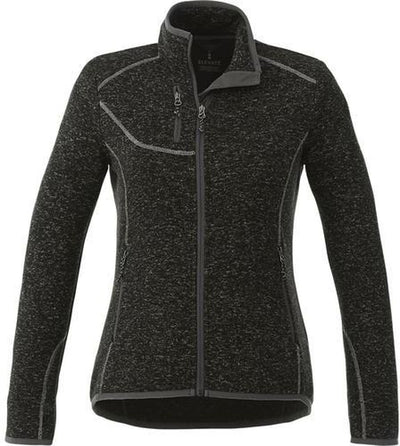Elevate-Ladies TREMBLANT Knit Jacket-XS-Black Smoke Heather-Thread Logic