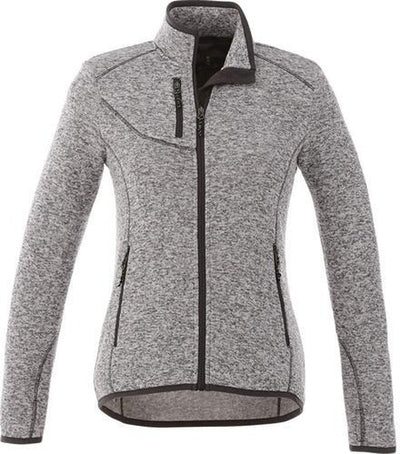 Elevate-Ladies TREMBLANT Knit Jacket-XS-Light Grey Heather-Thread Logic