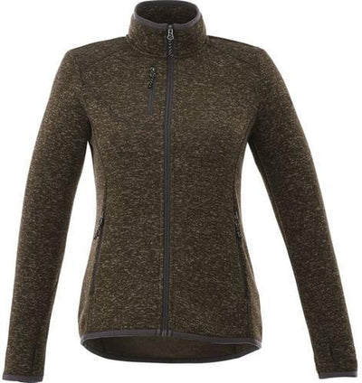 Elevate-Ladies TREMBLANT Knit Jacket-XS-Loden Heather-Thread Logic