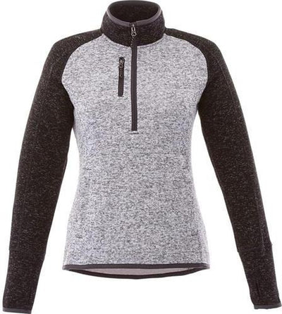 Elevate-Ladies VORLAGE Half Zip Knit Jacket-XS-Light Heather Grey/ Black Smoke Heather-Thread Logic