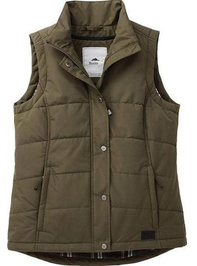 Ladies Roots73 Traillake Insulated Vest-S-Loden-Thread Logic