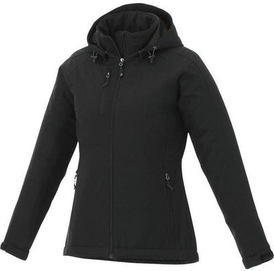 Elevate-Ladies BRYCE Insulated Softshell Jacket-XS-Black-Thread Logic