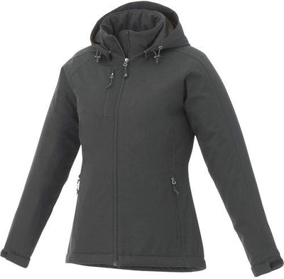 Elevate-Ladies BRYCE Insulated Softshell Jacket-XS-Charcoal-Thread Logic