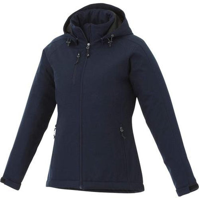 Elevate-Ladies BRYCE Insulated Softshell Jacket-XS-Navy-Thread Logic