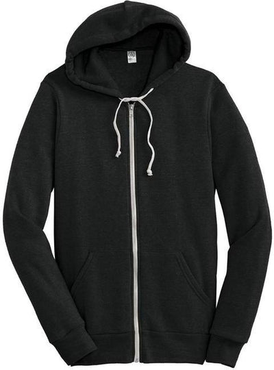 Eco True Black Alternative Rocky Eco-Fleece Zip Hoodie