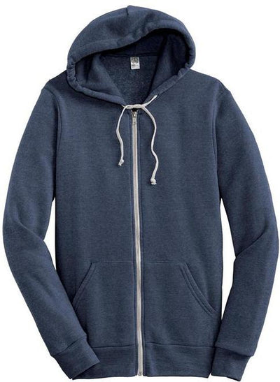 Eco Navy Alternative Rocky Eco-Fleece Zip Hoodie