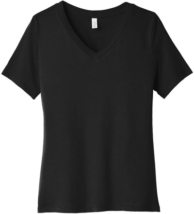 Bella + Canvas Ladies Relaxed Jersey Short Sleeve V-Neck Tee