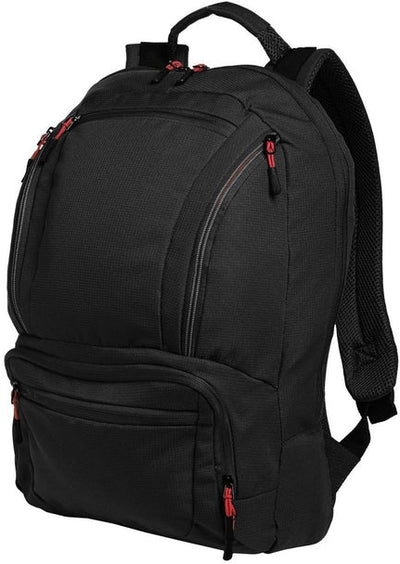 Port Authority-Cyber Backpack-Black/Red-Thread Logic