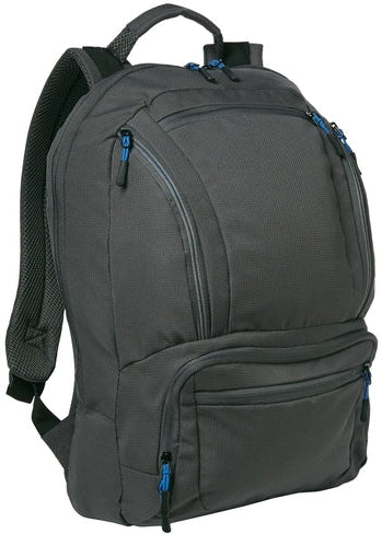 Port Authority-Cyber Backpack-Dark Charcoal/Royal-Thread Logic