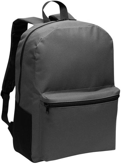 Port Authority-Value Backpack-Dark Charcoal-Thread Logic