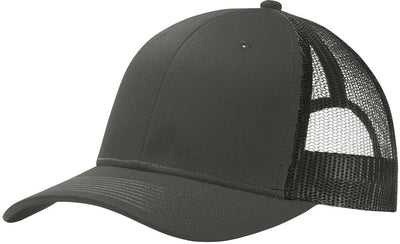 Port Authority-Snapback Trucker Cap-Grey Steel-Thread Logic