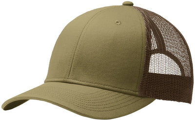 Port Authority-Snapback Trucker Cap-True Khaki/Coffee-Thread Logic