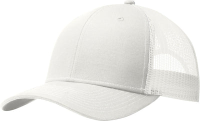 Port Authority-Snapback Trucker Cap-White-Thread Logic