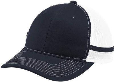Port Authority-Two-Stripe Snapback Trucker Cap-Rich Navy/Rich Navy/White-Thread Logic