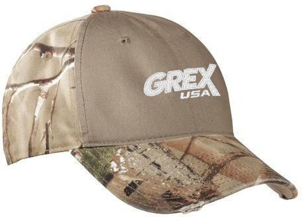 Port Authority Camo Cap with Contrast Front