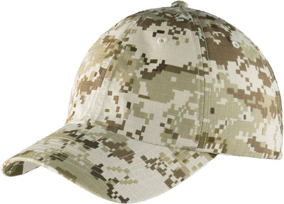 Port Authority-Digital Ripstop Camouflage Cap-Sand Camo-Thread Logic