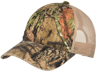 Port Authority-Unstructured Camouflage Mesh Back Cap-Mossy Oak Break Up/Tan-Thread Logic