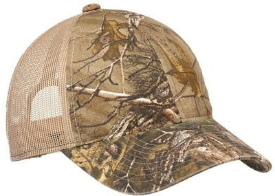 Port Authority-Unstructured Camouflage Mesh Back Cap-Realtree Xtra/Tan-Thread Logic