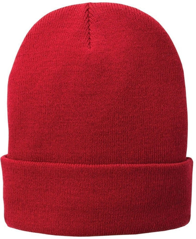 Port & Company-Knit Cap-Athletic Red-Thread Logic