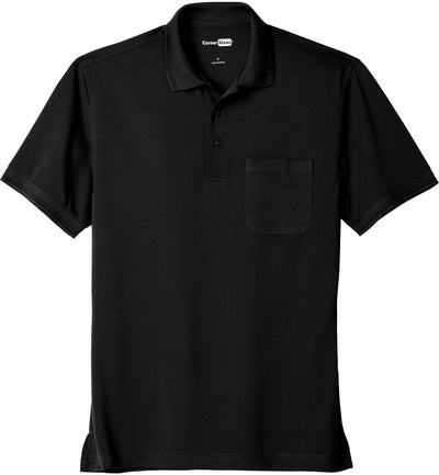 Cornerstone-Industrial Snag-Proof Pique Pocket Polo-XS-Black-Thread Logic