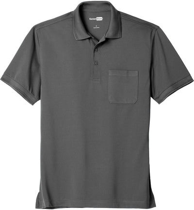 Cornerstone-Industrial Snag-Proof Pique Pocket Polo-XS-Charcoal-Thread Logic