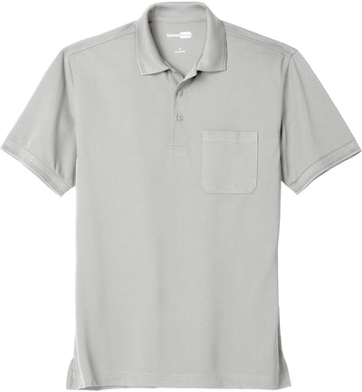 Cornerstone-Industrial Snag-Proof Pique Pocket Polo-XS-Light Grey-Thread Logic