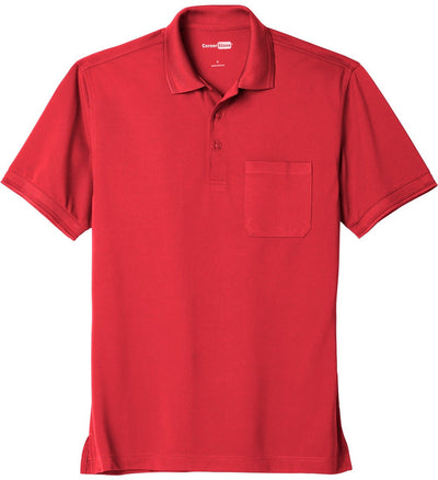 Cornerstone-Industrial Snag-Proof Pique Pocket Polo-XS-Red-Thread Logic