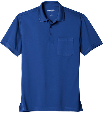 Cornerstone-Industrial Snag-Proof Pique Pocket Polo-XS-Royal-Thread Logic