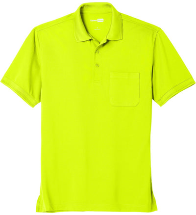 Cornerstone-Industrial Snag-Proof Pique Pocket Polo-XS-Safety Yellow-Thread Logic