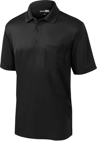 Cornerstone-Select Snag-Proof Pocket Polo-S-Black-Thread Logic