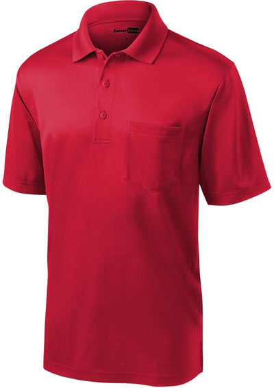 Cornerstone-Select Snag-Proof Pocket Polo-S-Red-Thread Logic