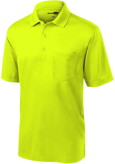Cornerstone-Select Snag-Proof Pocket Polo-S-Safety Yellow-Thread Logic