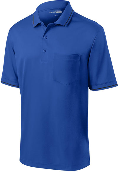 Cornerstone-Snag-Proof Tipped Pocket Polo-S-Royal/Black-Thread Logic