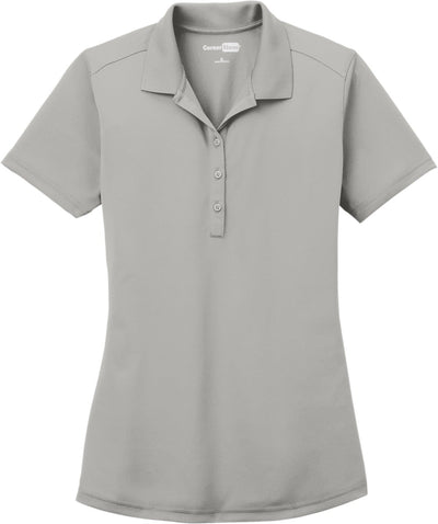 Cornerstone-Ladies Select Lightweight Snag-Proof Polo-XS-Light Grey-Thread Logic