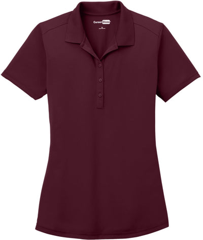 Cornerstone-Ladies Select Lightweight Snag-Proof Polo-XS-Maroon-Thread Logic