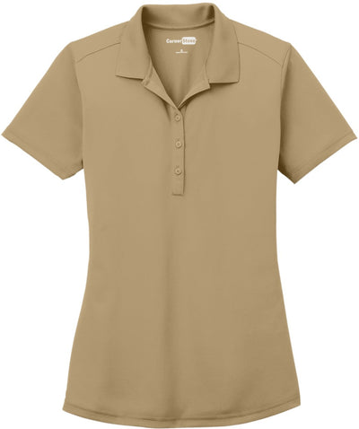 Cornerstone-Ladies Select Lightweight Snag-Proof Polo-XS-Tan-Thread Logic