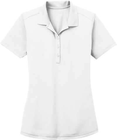 Cornerstone-Ladies Select Lightweight Snag-Proof Polo-XS-White-Thread Logic