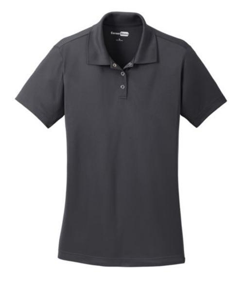 Cornerstone-Ladies Micropique Gripper Polo-XS-Iron Grey-Thread Logic